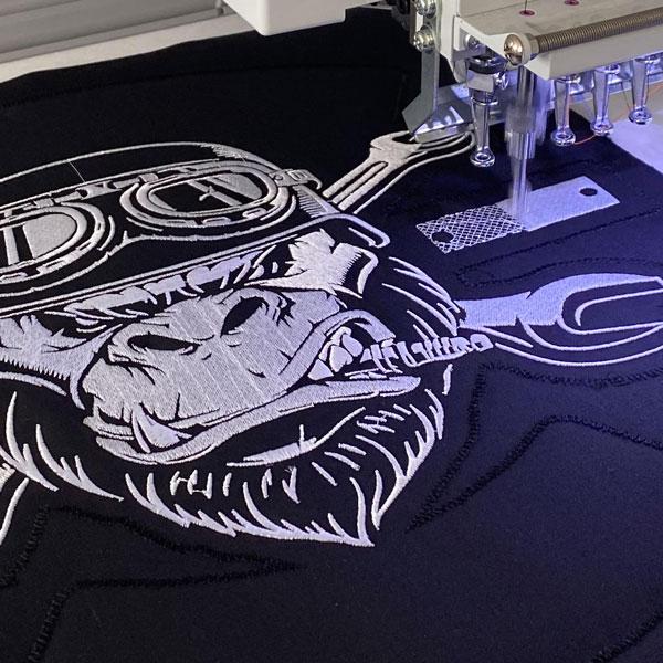 broderie logo sur textile
